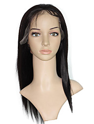 Malaysian Human Hair Wig Black Women Straight Lace Front Wigs Full Lace Wigs