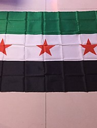 90*150 Cm Fleeing Shoping 1Pcs Syria Flag Sy Syr New Syrian Arab Republic National Flag(Without flagpole)
