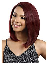 requintado comprimento médio fuxia reta peruca sintética das mulheres