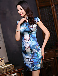 Mulberry Silk New Year Female Ethnic & Religious China Costumes Dress