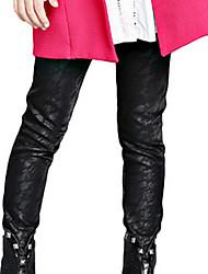 Pantalones Chica deAlgodón-Primavera / Otoño-Negro