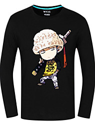 Inspired by One Piece Trafalgar Law Anime Cosplay Costumes Cosplay Tops/Bottoms Print Long Sleeve Top For Unisex
