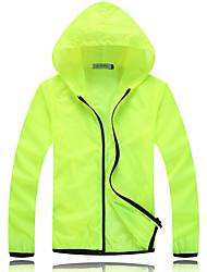 Trilha Blusas Unissexo Respirável / Resistente Raios Ultravioleta Primavera / Verão / Outono Branco M / L / XL / XXL / XXXLAcampar e