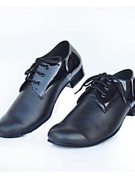Customizable Men's Dance Shoes Latin /Ballroom / Jazz / Samba Low Heel Black