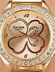 Women's Diamond Aesthetic Fashion Lucky Clover Quartz Watch Cool Watches Unique Watches
