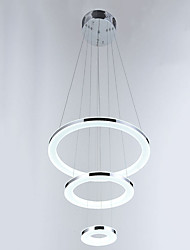 Acrylic LED Pendant Light Hanging Lamp Lighting Fixtures with 3 Ring 203040CM 36W CE FCC ROHS