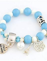 New Arrival Bohemian Acrylic Eiffel Heart Strand Bracelets Daily / Casual 1pc Hot Sale