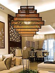 12W Lámparas Colgantes ,  Retro Otros Característica for LED Madera/BambúSala de estar / Dormitorio / Comedor / Habitación de