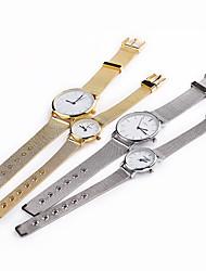 Мужской Женские Для пары Модные часы Повседневные часы Кварцевый Нержавеющая сталь Группа Серебристый металл Золотистый