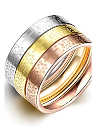 2016 3pcs Luxury Noble Cross Word Titanium Steel Fashion Ring Set