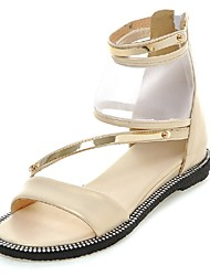 Women's Shoes Low Heel Gladiator / Ankle Strap Sandals Outdoor / Dress / Casual Silver / Gold