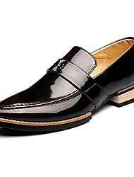 -Для мужчин-Для вечеринки / ужина-Кожа-На плоской подошве-Удобная обувь Формальная обувь-Мокасины и Свитер