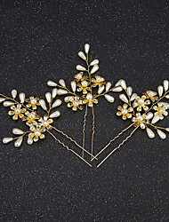 Women's / Flower Girl's Alloy / Imitation Pearl Headpiece-Wedding / Special Occasion Hair Pin 2 Pieces
