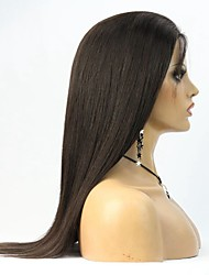 100% Human Virgin Hair Yaki Straight Glueless Full lace wig For Black Women