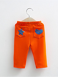 Kids Boy Girl Star and Heart Printed Cotton Pants Kids Casual Children Clothing
