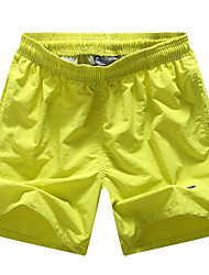 Men's Mid Rise Inelastic Shorts Pants,Active Relaxed Solid