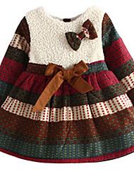 Vestido Chica de-Primavera / Otoño-Algodón-Negro / Beige