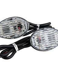 2x12 LED Motorcycle Turn Signal Light Bulb Blinker Flush Mount for Honda