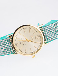 Women's New Trend European Style Fashion Fabric Rhinestone Geneva Bracelet Watch