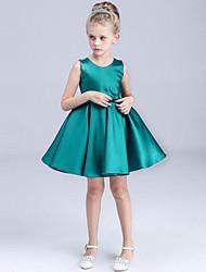 Girl's Green Dress Rayon Summer / Spring / Fall