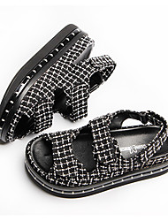 Women Sandal Leather Flats LED Luminous Casual Shoes With A Switch Fashion Emitting Thick Crust Muffin Shoes For Ladies