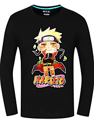 Inspirado por Naruto Naruto Uzumaki Animé Disfraces de cosplay Tops Bottoms Cosplay Estampado Manga Larga Top Para Hombre