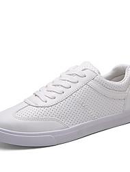 Scarpe Donna-Sneakers alla moda-Tempo libero / Casual / Sportivo-Chiusa-Piatto-Finta pelle-Nero / Bianco
