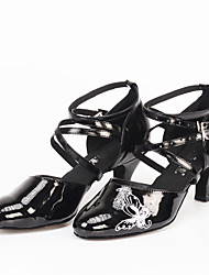 Sapatos de Dança(Preto) -Feminino-Personalizável-Moderna