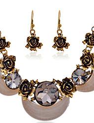 Fashion Summer Jewelry Gem / Rhinestone Jewelry Set Necklace/Earrings