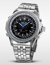 WEIDE Мужской Наручные часы электронные часы LED Календарь Секундомер Защита от влаги С двумя часовыми поясами тревогаКварцевый Цифровой