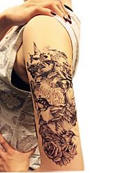 Christmas / New Year Animal Series Flowers Birds Pattern Size 22*16*0.1cm Tattoo Stickers Temporary Tattoos(1pcs)