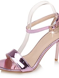 Women's Shoes Stiletto Heel Heels / Ankle Strap Sandals Wedding / Party & Evening / Dress Pink / Silver / Gold