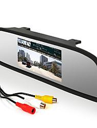 """4,3 """"автомобиль зеркало заднего вида ЖК-дисплей монитор + 170 ° широкоугольный обратная парковочная камера"""
