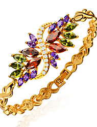 Vintage Jewelry 18k Gold Plated Mix Color Cubic Zirconia Bracelet Luxury Crystal Women Wedding Jewelry s B40160 Christmas Gifts