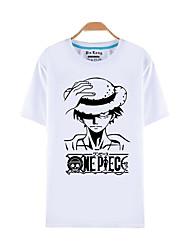 Вдохновлен One Piece Monkey D. Luffy Аниме Косплэй костюмы Косплей футболка С принтом С короткими рукавами Кофты Назначение Универсальные