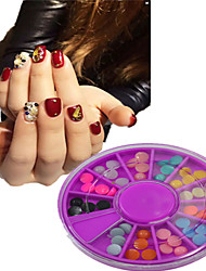 1pcs Purple Round Bowl  jewelrys'colors have 12 designs ,jewelrys'colors random delivered,jewelrys'colors in total 12-Bijoux pour ongles
