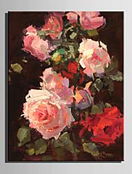 mini-formaat e-home olieverfschilderij modern de bloemen in volle bloei pure de hand te tekenen frameloze decoratieve schilderkunst
