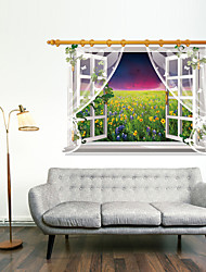 3D Wall Stickers Wall Decals Style Sunset Glow PVC Wall Stickers