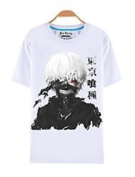 Вдохновлен Токио вурдалак Кен Kaneki Аниме Косплэй костюмы Косплей футболка С принтом С короткими рукавами Кофты Назначение Мужской