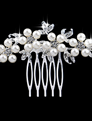 7*7cm Hair Combs with Pearl Crystal for Lady Wedding Party