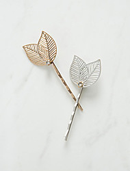 Women's New Fashion Sweet Simple Fashion Fresh Leaves Hairpin