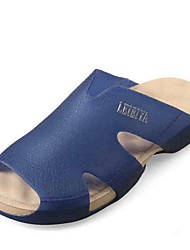 Zapatos de Hombre-Pantuflas-Casual-Látex-Azul / Marrón / Naranja / Azul Real