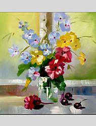 Pintados à mão Vida Imóvel / Floral/BotânicoModerno / Clássico / Tradicional / Pastoril / Estilo Europeu 1 Painel Tela Pintura a Óleo For