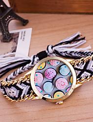 Mulheres Relógio de Moda Bracele Relógio Quartzo Tecido Banda Boêmio Cores Múltiplas # 7 # 8 # 9 # 10 # 11