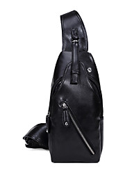 Masculino Couro Ecológico Esporte / Casual / Ao Ar Livre / Compras Bolsa de Esporte & Lazer / Bolsa Corpo Cruz / Sling sacos de ombroAzul