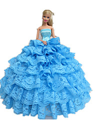 Princess Dresses For Barbie Doll Cyan Dresses