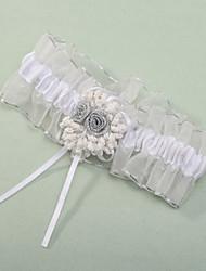 Подвязка Полиэфир Цветок Белый