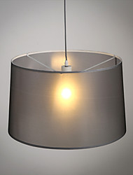 Modern Classic Black Metal Ceiling Lights with Fabric Shades, Living room Bedroom Dining Room Lamp