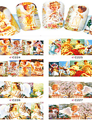 8pcs  Nail Art Water Transfer Stickers Lovely Angel Children  Image Fashion C224-227