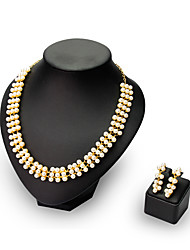 Lucky Doll Women Party / Work Gold Plated / Alloy / Rhinestone / Imitation Pearl Necklace / Earrings Jewelry Sets